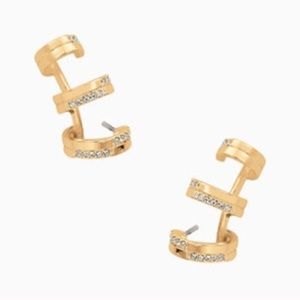 Stella & Dot Jewelry - :: Stella & Dot Pavé✨Trio Earrings Gold